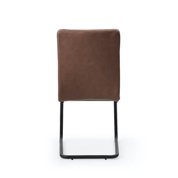 Felix spisestol (brun imitert skinn)