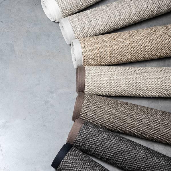 Sisal teppe (160x230 - Antrasitt/brun kant)