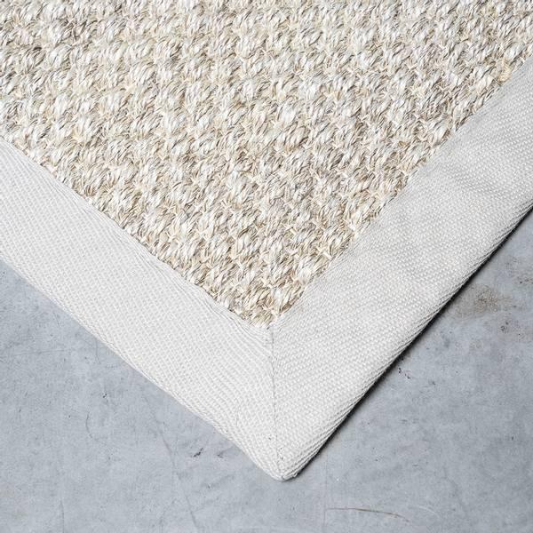 Sisal teppe (80x300 - Sand/beige kant)