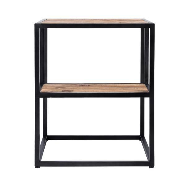 Elmwood sidebord med hylle (50x50x60)